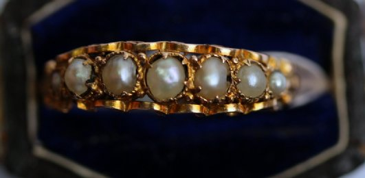 15ct gold & pearl ring
