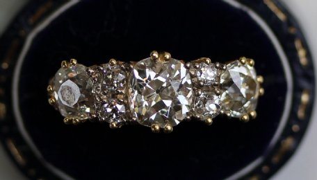 18ct Gold, 7Stone Diamond Ring