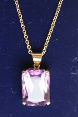 18ct gold, Amethyst Pendant - SOLD