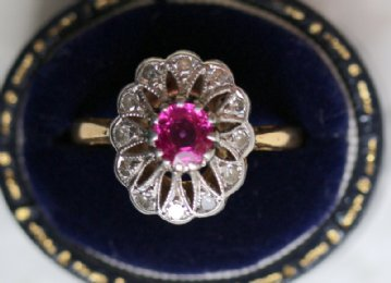 18ct Gold, Diamond & Ruby Ring