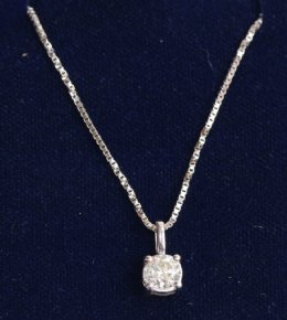 18ct Gold Diamond Solitaire Pendant