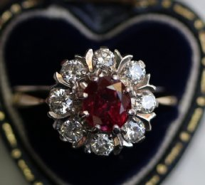 18ct Gold, Ruby & Diamond Ring