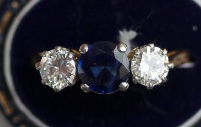 18ct Gold, Sapphire&Diamond Ring