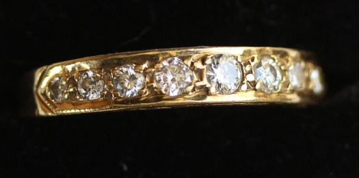 18ct Gold,9stone Diamond Ring - SOLD