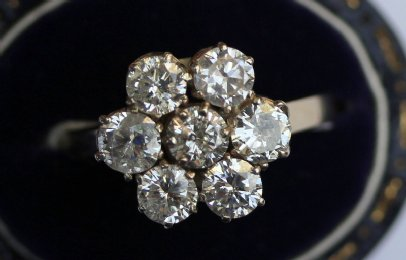 18ct Gold,Diamond Cluster Ring