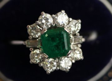 18ct gold,Emerald & Diamond Ring
