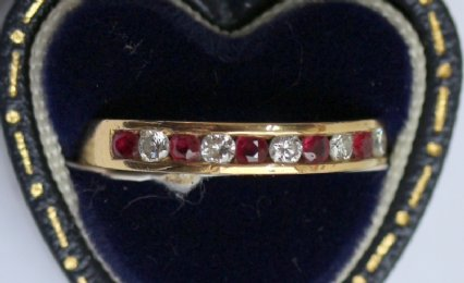 18ct Gold,Ruby & Diamond Ring