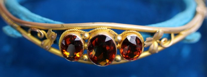 19th cent Citrine Bracelet