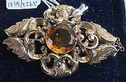 19th cent Citrine Brooch