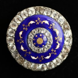 19th cent Enamel & Paste Brooch