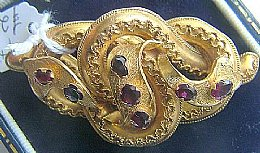 19th cent Garnet Set Brooch