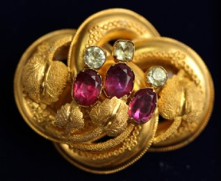 19th cent Gem Set Brooch