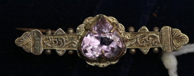 19th cent Gold & Amethyst Brooch