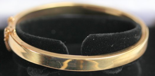 9ct Gold Bangle - SOLD