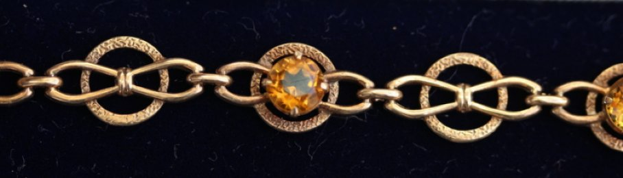 9ct gold ,Citrine bracelet