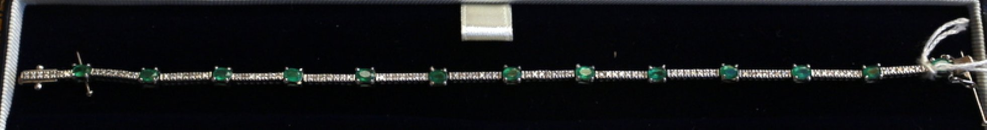 9ct gold, Emerald & Diamond Bracelet