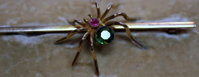 9ct Gold Spider Brooch