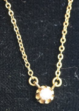 9ct Gold,Diamond Pendant