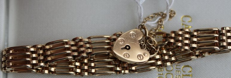 9ct Gold,Gate Bracelet