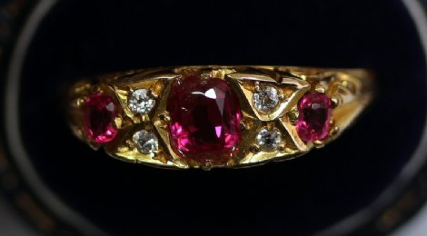 9ct Gold,Gem Set Ring - SOLD