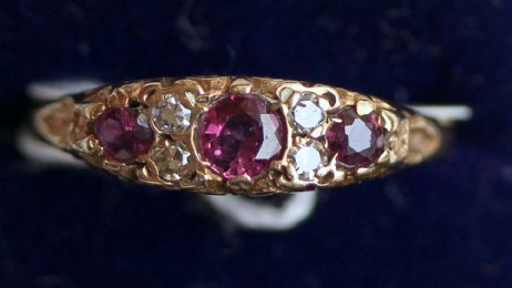 9ct Gold,Ruby & Diamond Ring - SOLD