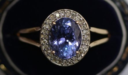 9ct Gold,Tanzanite Ring