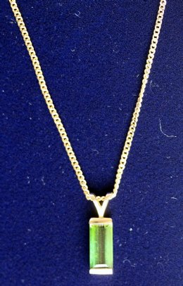 9ct gold, Tourmaline Pendant