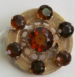 Citrine Scottish Brooch.