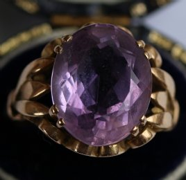 Gold & Amethyst Ring