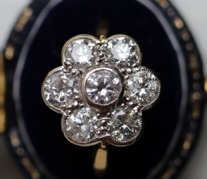Gold & Diamond Cluster Ring