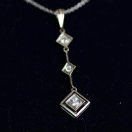 Gold & Diamond Necklace with Chain