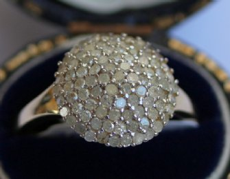 Gold & Diamond Set Pave Ring
