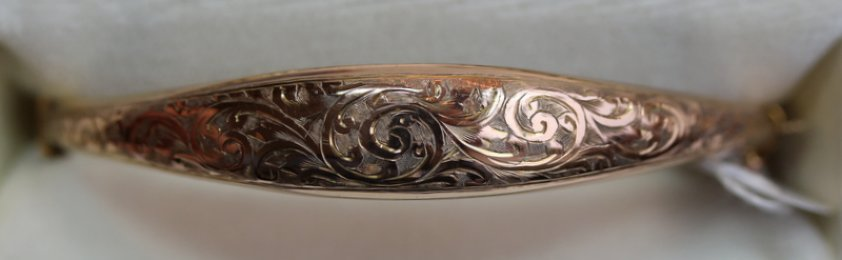 Gold Bangle , Dated 1915