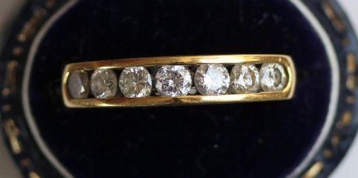 Gold, Diamond, Half Hoop Eternity Ring