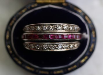 Gold, Sapphire & Ruby Ring