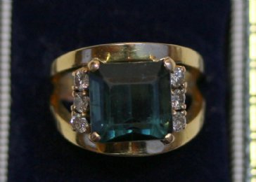 Gold, Tourmaline & Diamond Ring