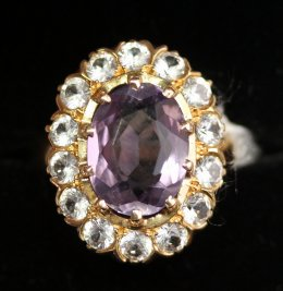 Gold,Amethyst & Gem Set Ring