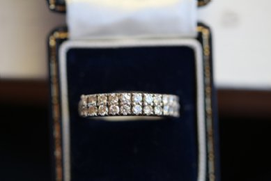 Half Hoop Diamond Ring