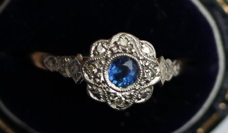 Saphire & Diamond Ring - SOLD