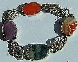 Scottish Silver & Agate Bracelet
