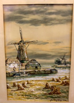 Hamilton Glass W/C - Dutch Scene