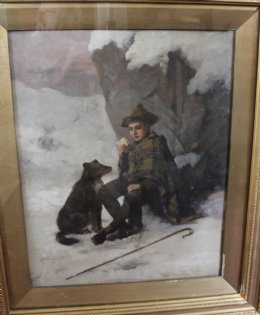 Highland Shepherd Boy -  Oil Painting