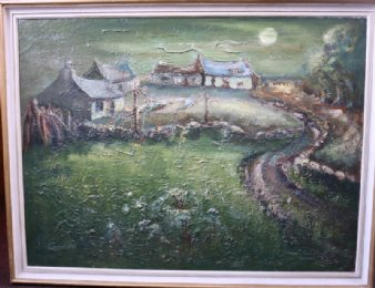 "Painting of Cottages Signed ""Gordon"" - SOLD"