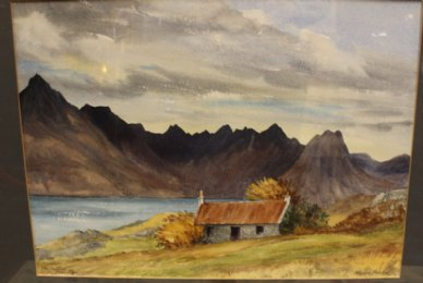 The Cuillins, Skye, Watercolour - SOLD