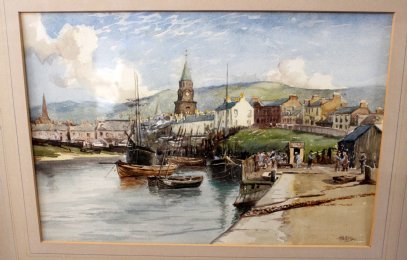 Tom Paterson , Scottish Harbour Scene
