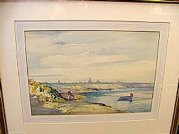 Watercolour of Lossiemouth - SOLD