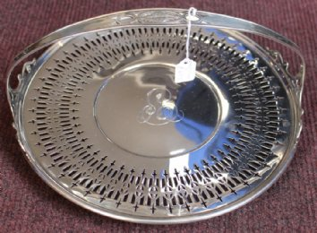 19th cent Silver Basket