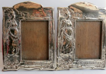 Art Nouveau Silver Photo Frames