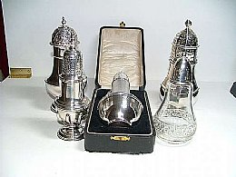 Assorted Silver Sugar Castors