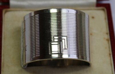 Boxed Very Heavy Silver Napkin Ring